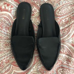 Express black slip on loafers EUC